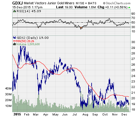 unusual option activity, a chart of $GDXJ